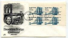 2041 Brooklyn Bridge, ArtCraft plate block  FDC