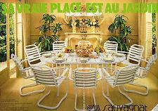 PUBLICITE ADVERTISING 124  1977  SAUVAGNAT  les meubles de jardin ( 2p)