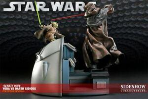 NIB Sideshow Yoda Vs Darth Sidious Diorama Statue Figure RARE!!  #172 of 550