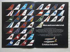 11/1981 PUB AIRBUS A300 A310 THAI AIRWAYS TAILS PIA AIR AFRIQUE SABENA TOA AD