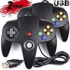 2Pack N64 USB Controller Game Pad Joystick for Windows PC MAC Linux Raspberry Pi