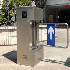 Access Control Semi-Auto Half Height Swing Gate Door Turnstile 304 Stainless