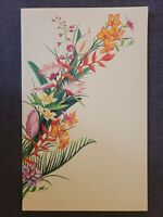 1980s Hawaii The Lodge at Koele Restaurant Menu, Cover Bunch of Flowers by ST