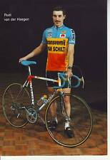 CYCLISME carte cycliste RUDI VAN DER HAEGEN équipe TRANSVEMIJ - VANSCHILT 1987