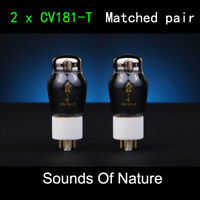 New Matched Pair CV181-T ShuGuang Vacuum Tube Sounds Of Nature CV181 6SN7 6N8P