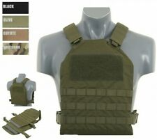 Simple Plate Carrier + Dummy Soft Armor Inserts Tactical Molle Vest Kampfweste