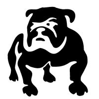 Cute Bulldog Puppy BLACK JDM Car Sticker Fuel Tank Cap Door Laptop Decal Vinyl