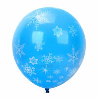 12PCS Frozen Snowflake Latex Balloon For Birthday Supplies Wedding Decoration HO