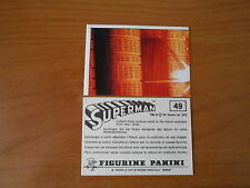 FIGURINA SUPERMAN n.49  ED.PANINI 1978 - COMPLETA DI VELINA