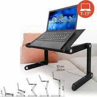 360°Adjustable Foldable Laptop Desk Aluminum Table Stand Bed Notebook Tray