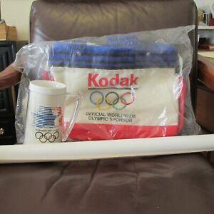 Kodak Official Sponsor Duffel Bag Plastic Tankard and Poster