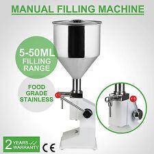 NEW MANUAL FILLING MACHINE (5-50ML) FOR CREAM SHAMPOO COSMETIC LIQUID FILLER
