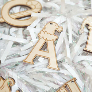 ABC Letter Bauble - Christmas Laser Cut Wooden Hanging Tree Decoration