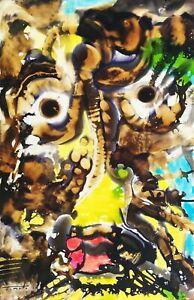 Jose Tonito Original painting.Organic realistic expressionist art.MUJER FLORERO
