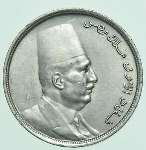 EGYPT FUAD I, 5 MILLIEMES, AH1342 (1924) COIN GEF
