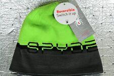 NEW Men's SPYDER Winter Reversible WORD HAT ONE SIZE Gray Green 726307 MSRP $30