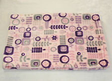 Little Miracles Pink Purple Gray Flowers Circles Baby Blanket Costco Leaves