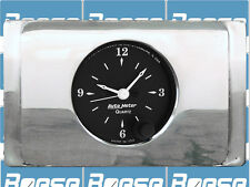 1940 Ford Deluxe Clock Insert w/ Auto Meter Old Tyme Black Clock