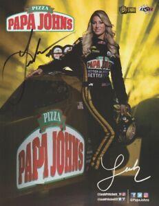 2018 Leah Pritchett signed Papa John's Pizza 2nd Version Top Fuel NHRA postcard