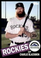 2020 Topps Series 2 1985 Black #85TB-17 Charlie Blackmon /299 - Colorado Rockies