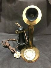 Candlestick Phone Brass American Bell Telephone c1910 51AL