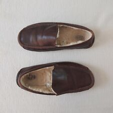 UGG gents mans Ascot leather slippers Wool lined Indoor/outdoor Used UK 9 £120
