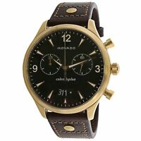 Movado Men's Heritage 3650031 Gold Leather Swiss Quartz Sport Watch