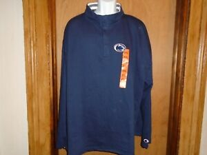 Penn State Nittany Lions Champion Men's 1/4 Button Pullover Shirt XXL NWT