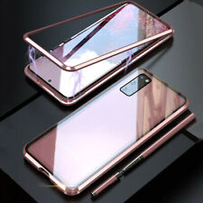 For Samsung S20+ Plus S20 Ultra Magnetic Magnetic Adsorption Tempered Glass Case