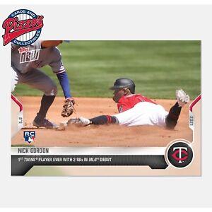 Nick Gordon RC 2 SBs in Debut  - 2021 MLB TOPPS NOW Card 180 Presale
