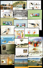 2008 Portugal, Azores, Madeira Complete Year MNH. 21 Souvenir Sheets, Blocks.