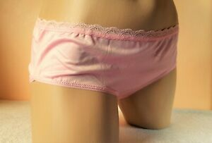 Baby Pink Silky Knickers - Buttery Soft Liquid Satin Panties UK M 12 - US 7