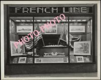 FRENCH  PAQUEBOT    LE NORMANDIE   FRENCH LINE STORE   PHOTO BATEAU 17x13