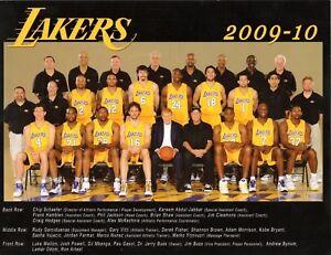 """Lakers 2009-10 Mini Poster 8 1/2"""" x 11"""""""