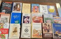 Lot of 18 Spiral Bound Community Church Fundraiser and More COOKBOOKS