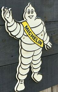 Michelin Man Silhouette Cast Iron Plaque Sign - Michelin Tyres Vintage Retro
