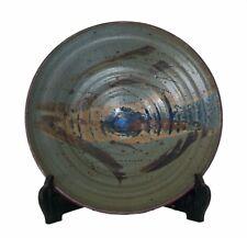 HANS SENGERS - Splash Decorated Studio Pottery Charger - Canada - 20th Century