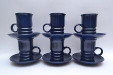 Stylish Mid Century Vintage Set of 6 Carlton Ware 'Wellington' Cups and Saucers