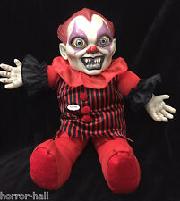 Horror Toy TALKING CREEPY KILLER CLOWN DOLL Scary Haunted House Prop Decoration