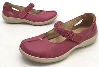 Hotter Comfort Concept Womens Pink Leather Mary Jane Slip On Shoes Size 6.5