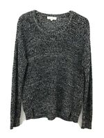 Turo by Vince Camuto Sweater Crew Neck Long Sleeve Knit Black - Women Size Large