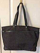 NWOT COACH BLACK JACQUARD/LEATHER LOGO MULTIFUNCTION TOTE BABY BAG MSRP $495+