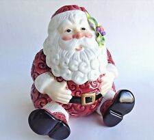 Fitz & Floyd Essentials Seated Santa Claus Covered Candy Jar Christmas Treats