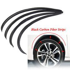 4x 28.7'' Carbon Fiber Car Wheel Eyebrow Arch Trims Lips Protector Flares Strips