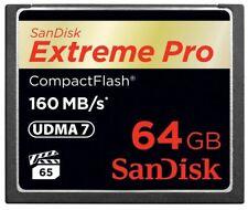 SanDisk 32/64/128gb CF Ultra compatto Extreme Pro Scheda di memoria flash per fotocamera