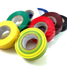 8 ROLLS of 19mm x 33m JUMBO ELECTRICAL PVC INSULATION TAPE FLAME RETARDANT 8NORM