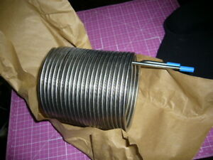 Stainless Steel Liquid Heating Cooling Tubing Coil, 3/16 Chiller/Heat Exchanger
