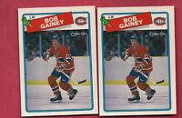 2 X 1988-89 OPC # 216 CANADIENS BOB GAINEY   CARD