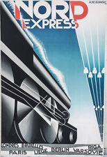 A.M Cassandre  Original NORD Express Lithograph Poster 1927-1980