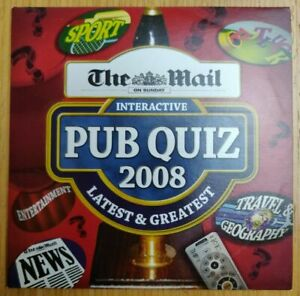"""The Mail on Sunday Interactive Pub Quiz 2008 Promo DVD New Condition """"FREE POST"""""""